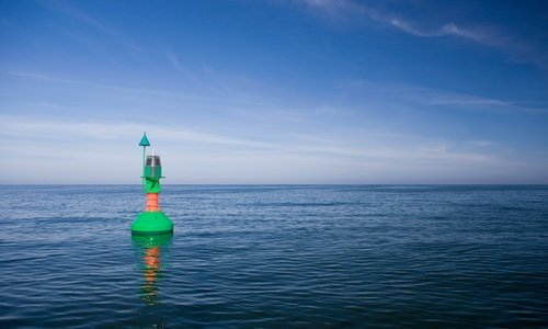 buoy in the middle of the sea