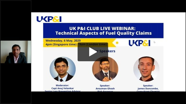UK P&I Club Webinar: Fuel Quality Part 2 - Technical Aspects of Fuel Quality Claims